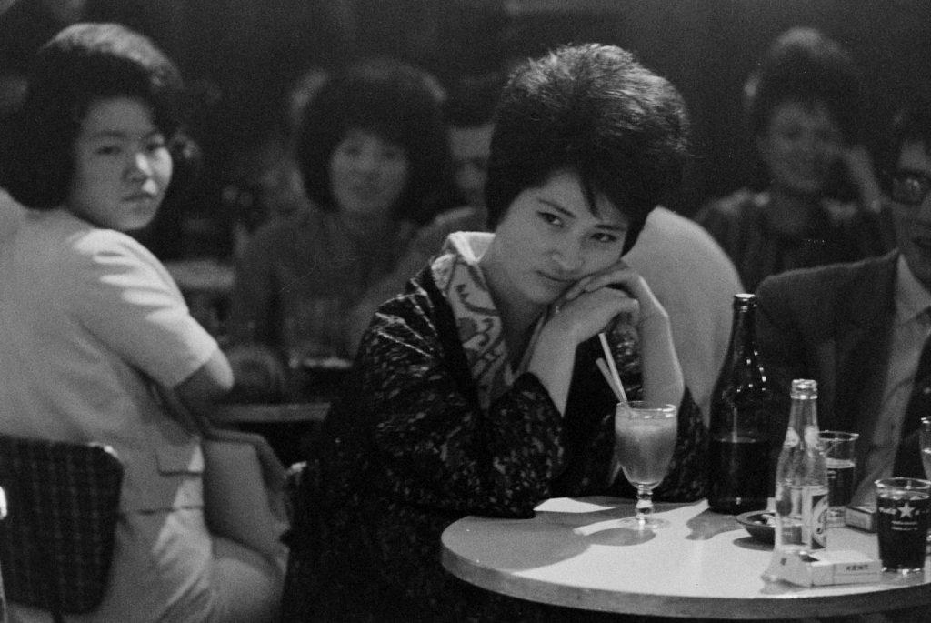 Listening to jazz, Tokyo, 1964.