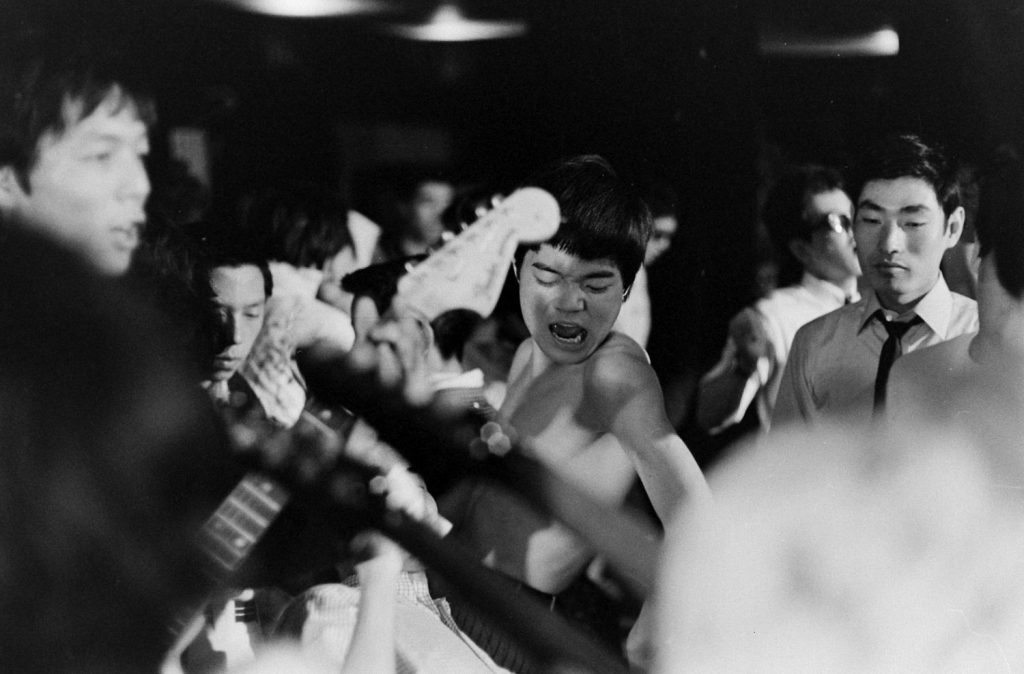 "Rocking out with the ""Tokyo Beatles,"" 1964."