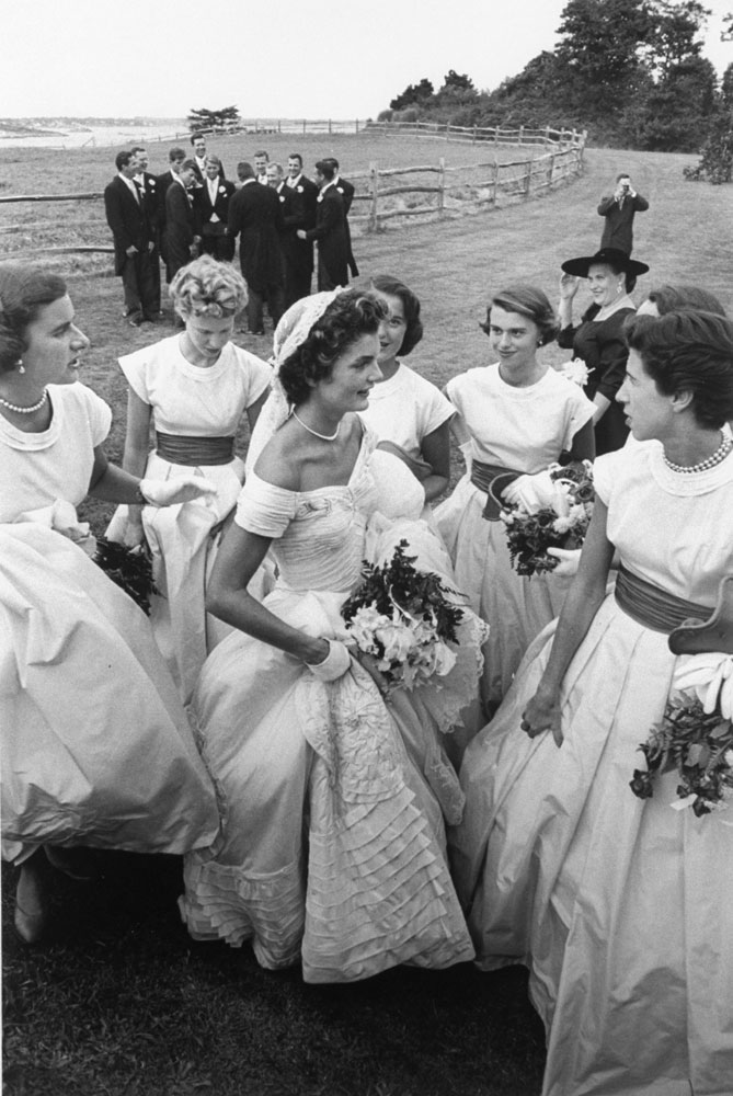Jackie Kennedy on her wedding day, Newport, R.I., Sept. 12, 1953.