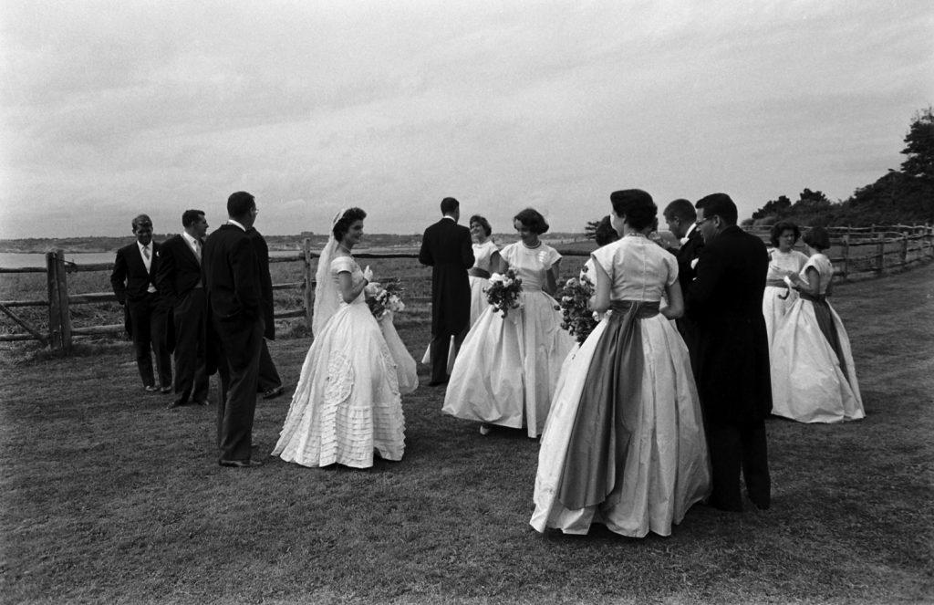 John F. Kennedy, Jacqueline Bouvier marry, Newport, R.I., Sept. 12, 1953.