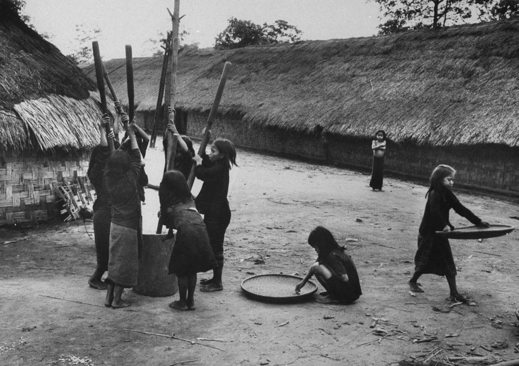Mountain tribal village, Vietnam, 1961.