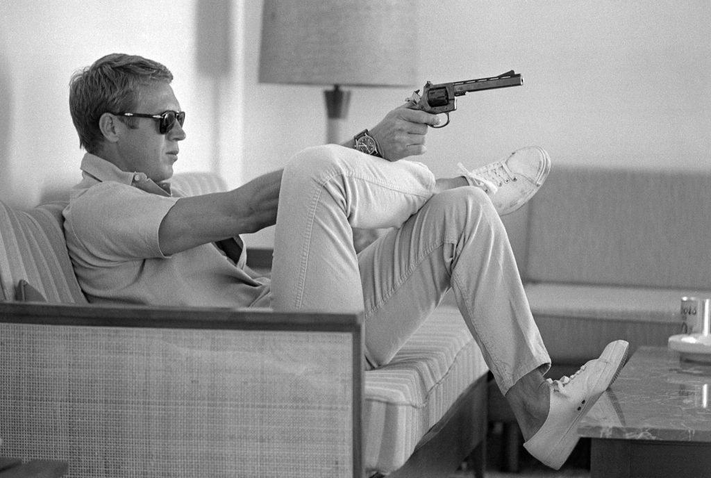 Steve McQueen at home, 1963.