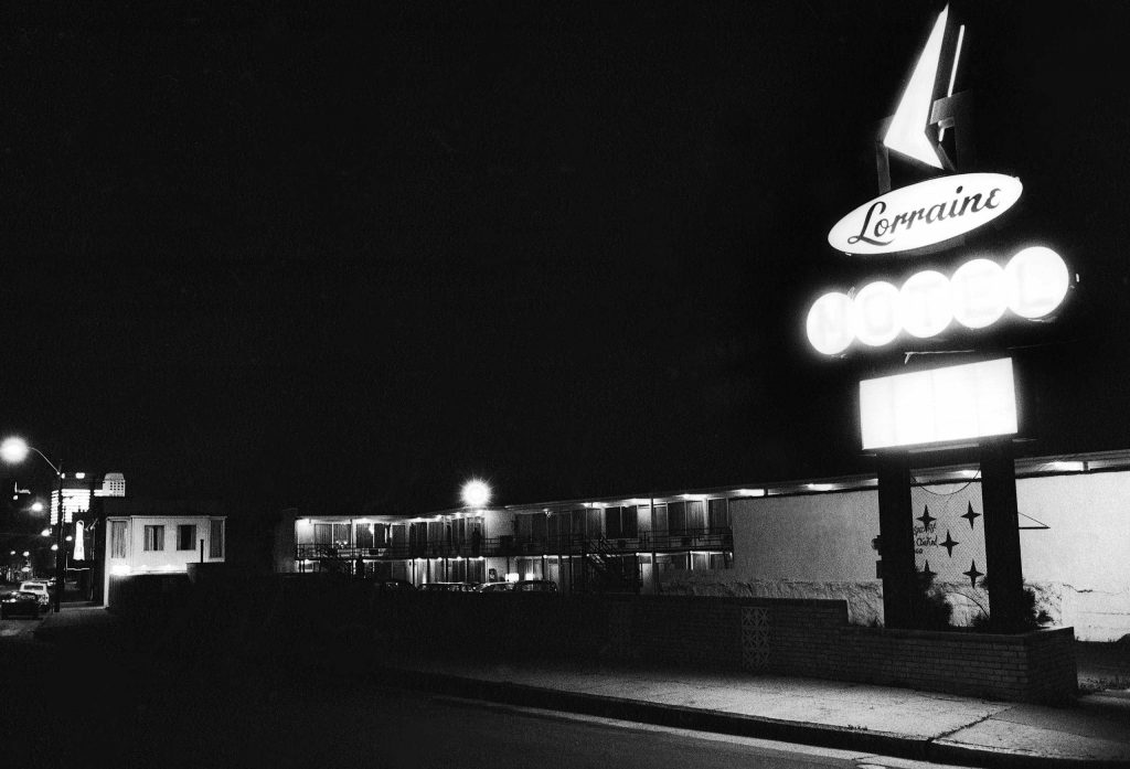 The Lorraine Motel, n the hours after Dr. King's assassination, April 4, 1968.