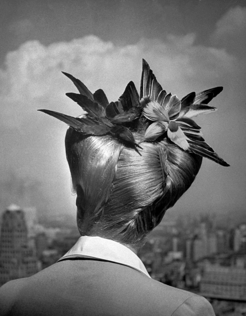 """From the August 23, 1943, issue of LIFE and a story about """"amateur vs. professional ways of achieving a summer coiffure."""""""