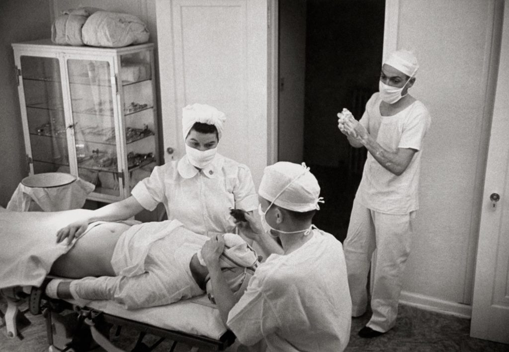 Not published in LIFE. An operating room in Kremmling, Colo.