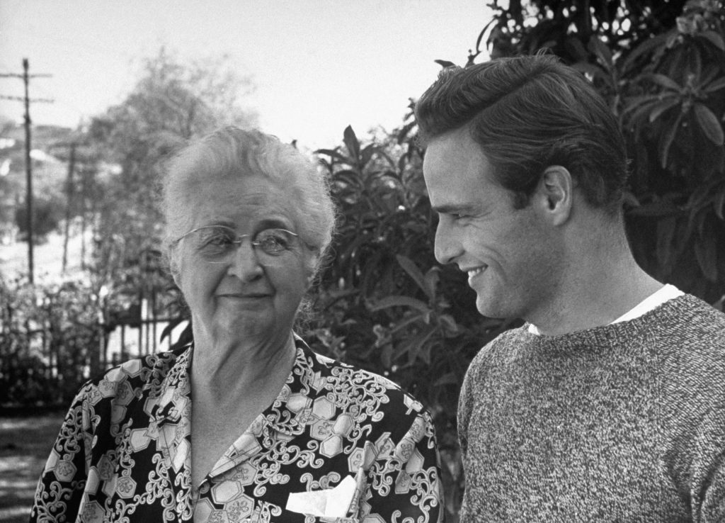 Marlon Brando and his grandmother, 1949.