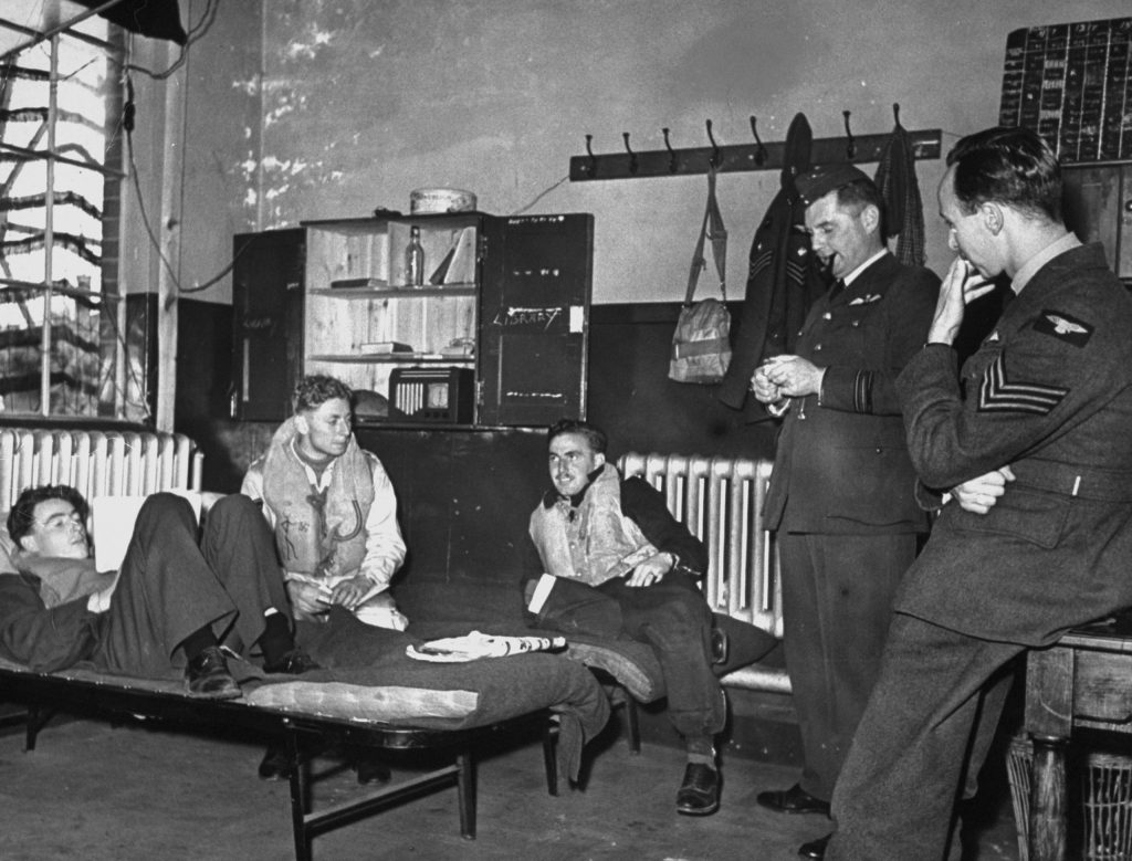 Scene during the Battle of Britain, RAF Fighter Command airfield, 1940.