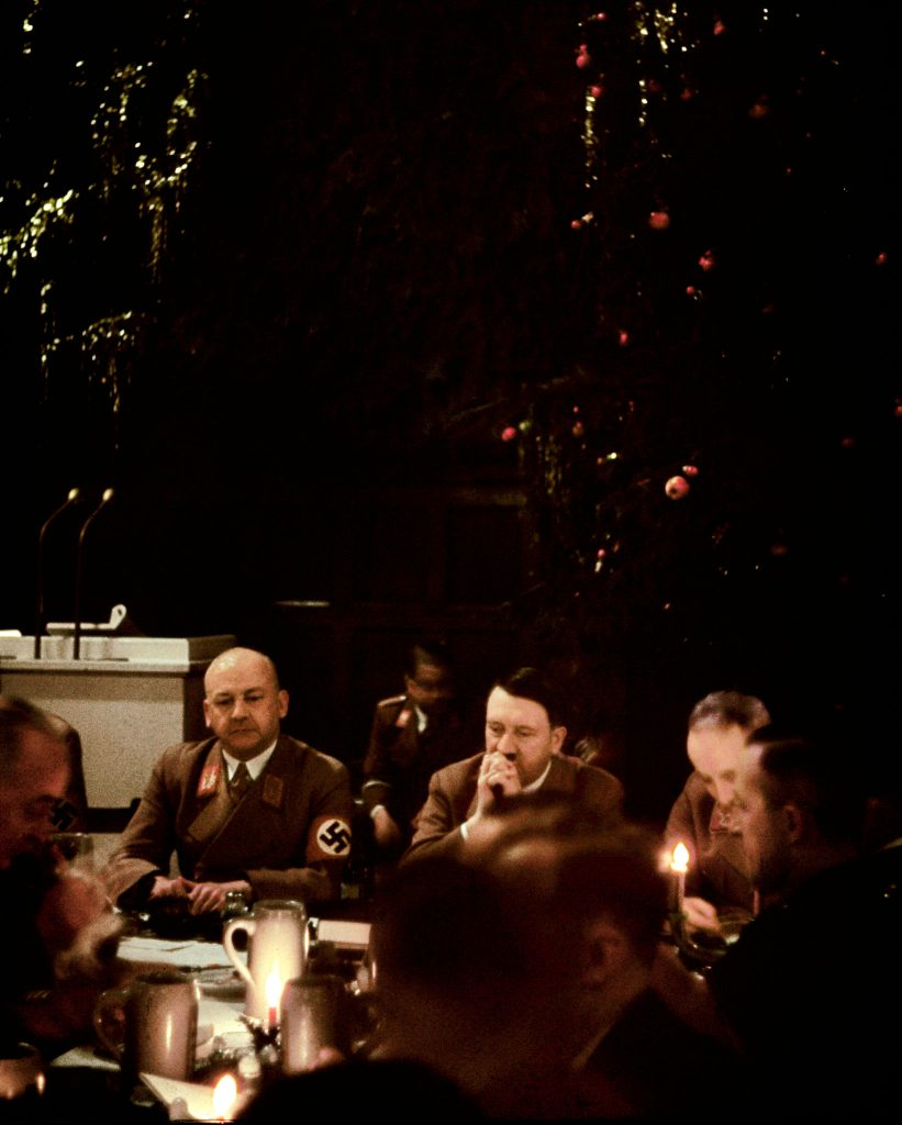Scene from a Christmas party attended by Adolf Hitler and other Nazis, date unknown.