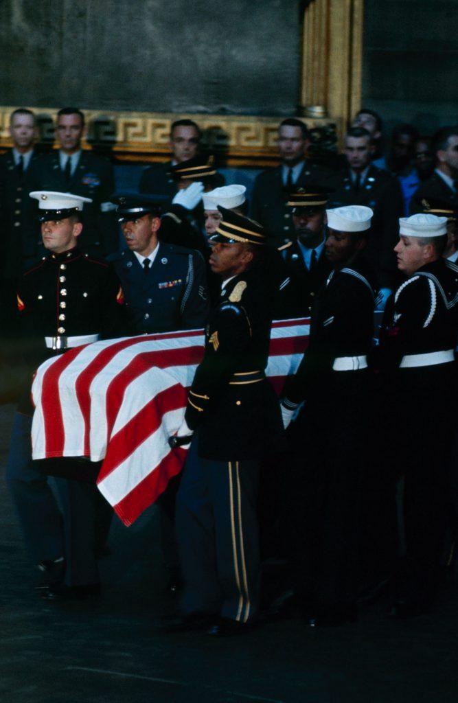 John F. Kennedy's flag-draped casket, Washington, D.C., November 1963