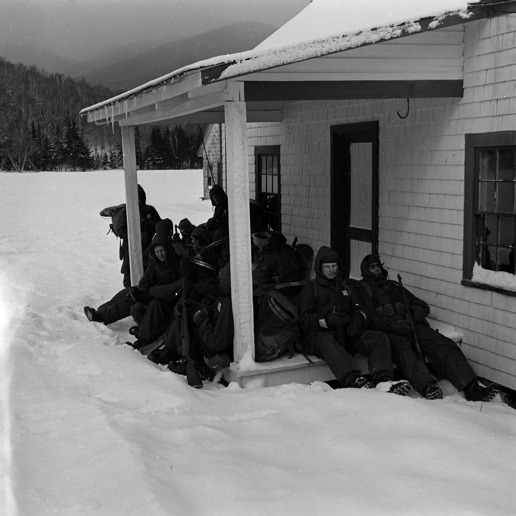 Military test, New Hampshire's Mount Washington, 1953.