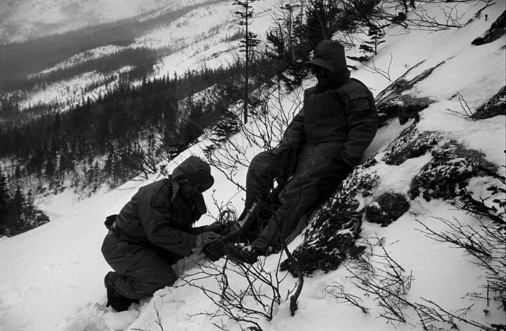 Military survival test, New Hampshire's Mount Washington, 1953.