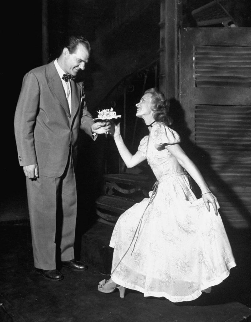 Jessica Tandy, Karl Malden, 1947