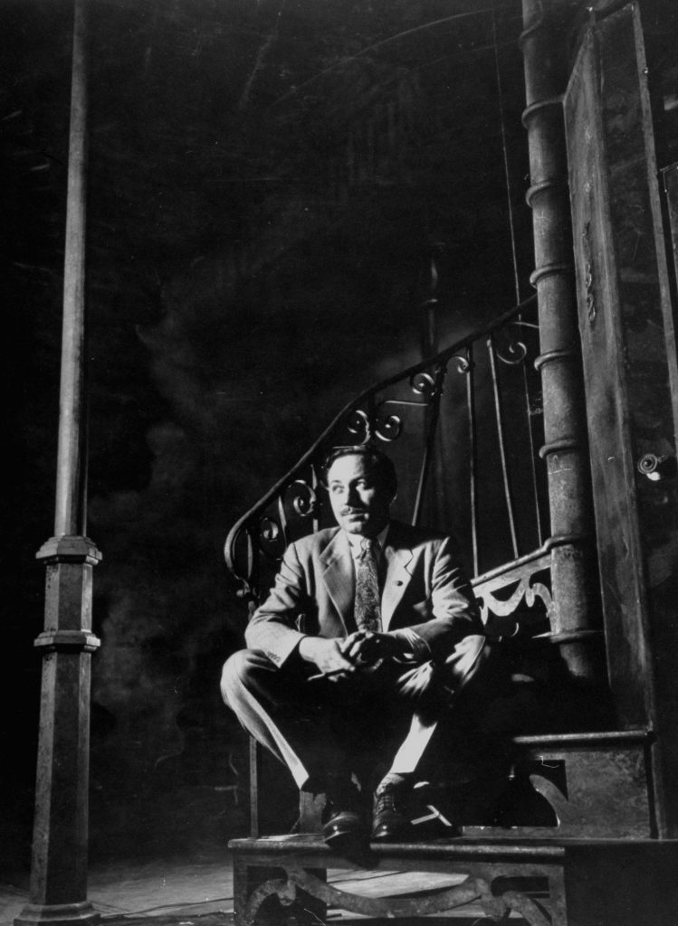 Tennessee Williams on the set of Streetcar Named Desire