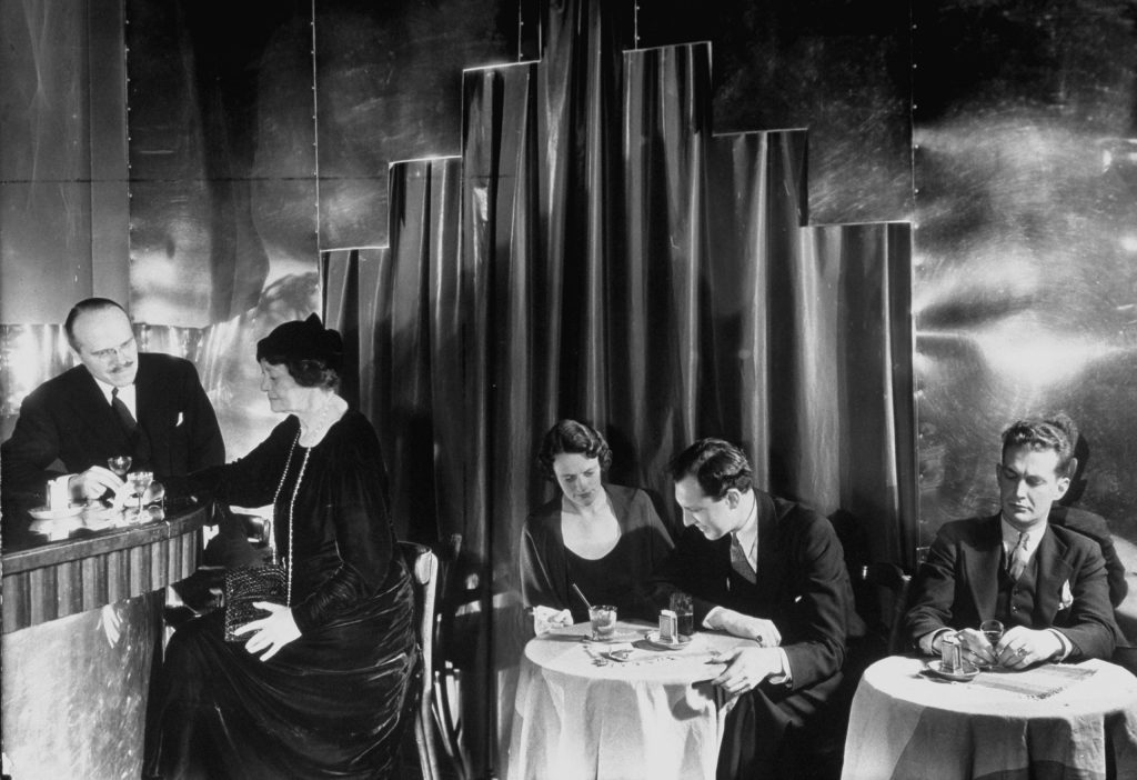 Scene inside a New York City speakeasy during Prohibition, 1933.