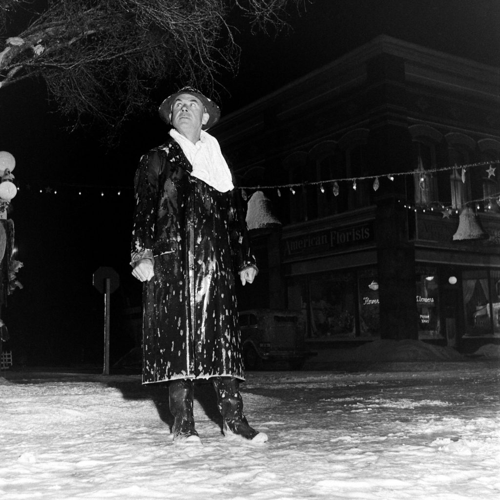 On the set of 'It's a Wonderful Life.'