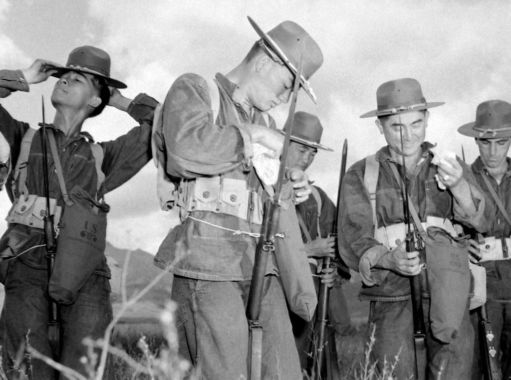Troops in Hawaii, early 1942.