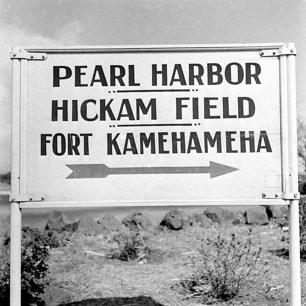 Pearl Harbor Sign Dec. 15, 1941