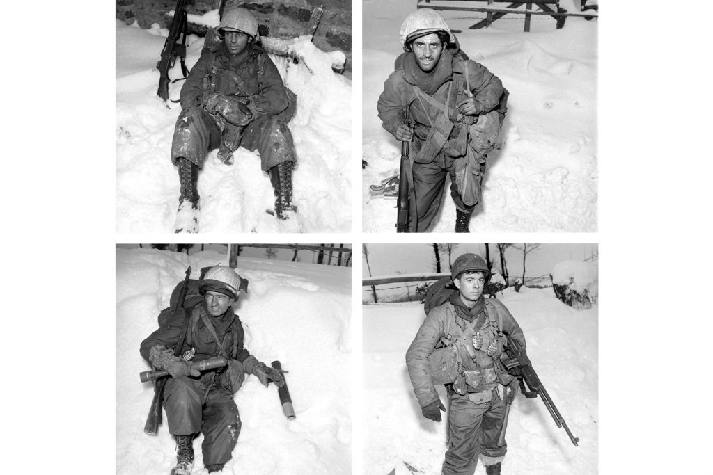Previously unpublished portraits of American soldiers during the Battle of the Bulge, December 1944.