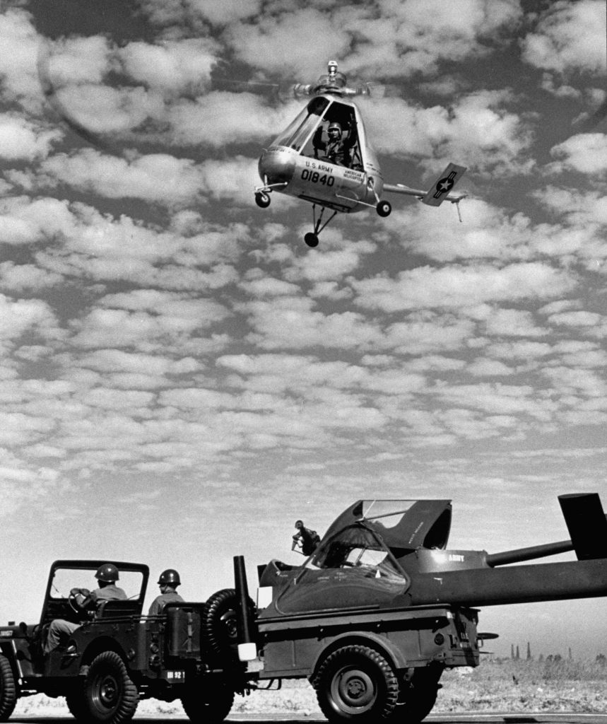 "The ""Pulsa,"" a collapsible one-man helicopter, 1952."