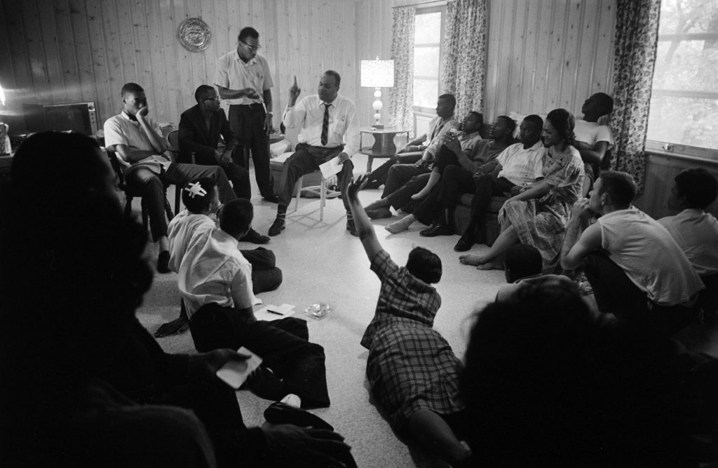 Freedom riders rescued from First Baptist Church relax at a safe house in Montgomery, Ala.