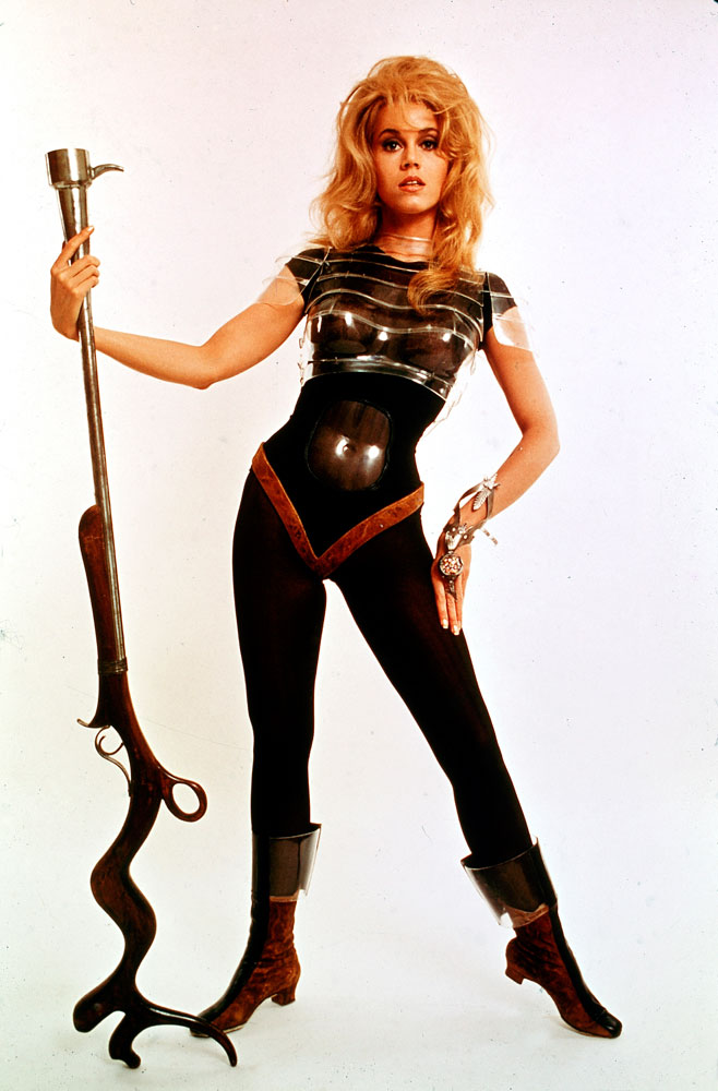 Cover image from the March 29, 1968, issue of LIFE. Jane Fonda in the title role of the movie, Barbarella.