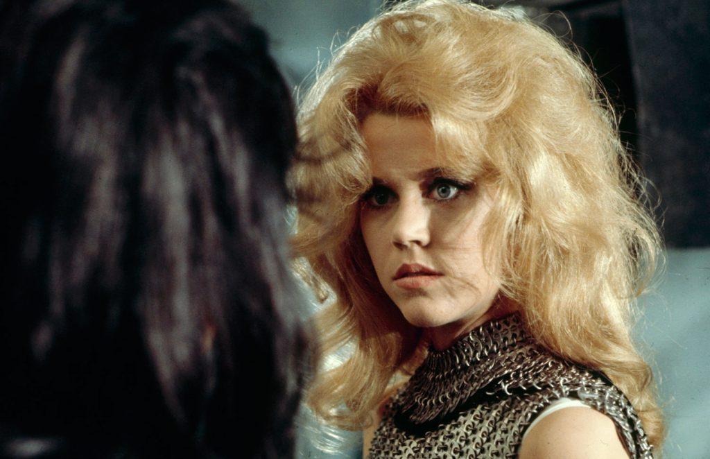 Jane Fonda on the set of Barbarella, 1968.