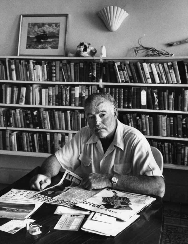 Ernest Hemingway at home in Cuba, August 1952.