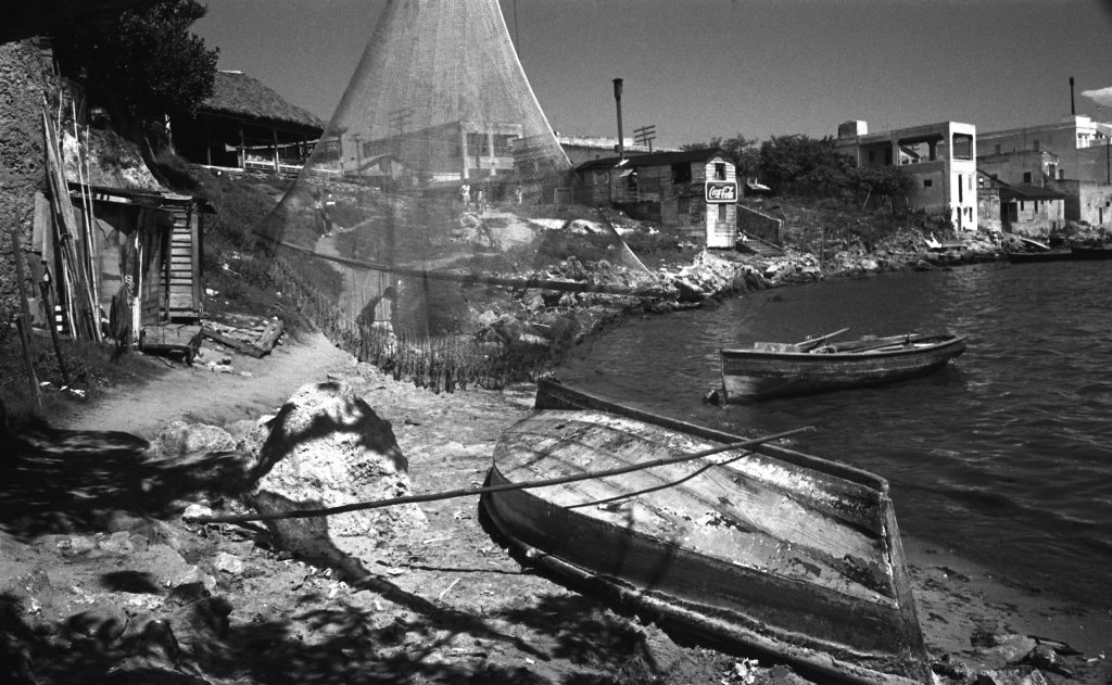 Cojimar, a Cuban fishing village and the inspiration for the village in Hemingway's novel, The Old Man and the Sea, August 1952.