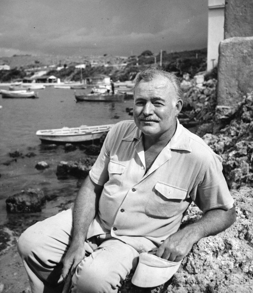 Ernest Hemingway in Cuba, August 1952.