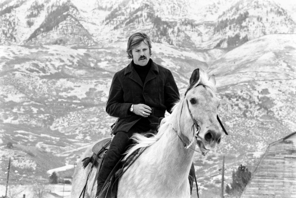 Robert Redford on a horse