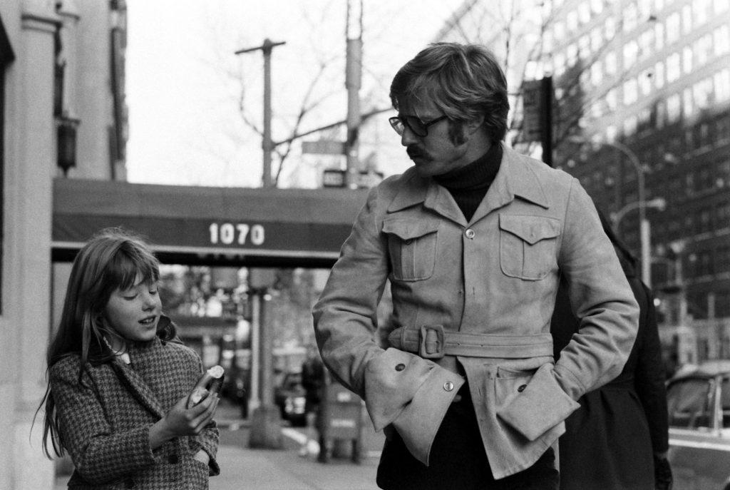 Robert Redford with daughter, Shauna, New York City, 1969