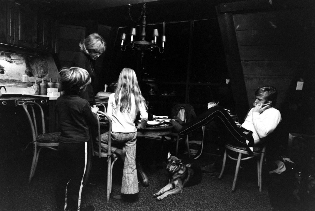 Robert Redford and his family (his first wife, Lola van Wagenen; son, Jamie; and daughter, Shauna), Utah, 1969.