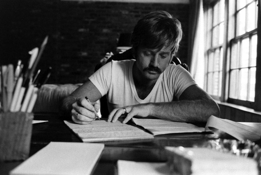 Robert Redford hard at work, Utah, 1969