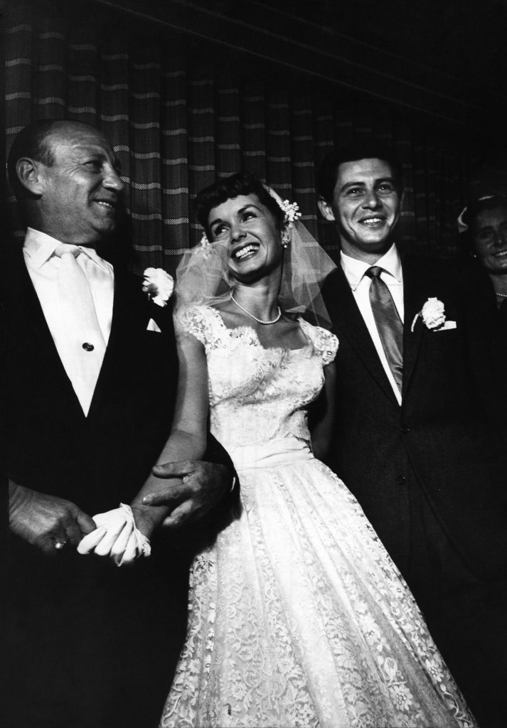 Wedding of Debbie Reynolds and Eddie Fisher, 1955