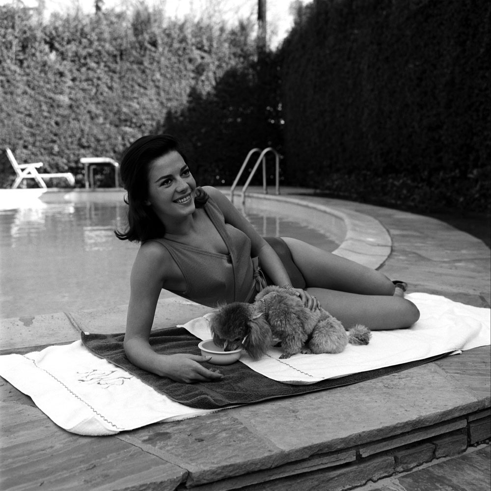 Twenty-two-year-old Natalie Wood, 1960, at Beverly Hills home she shared with husband Robert Wagner.