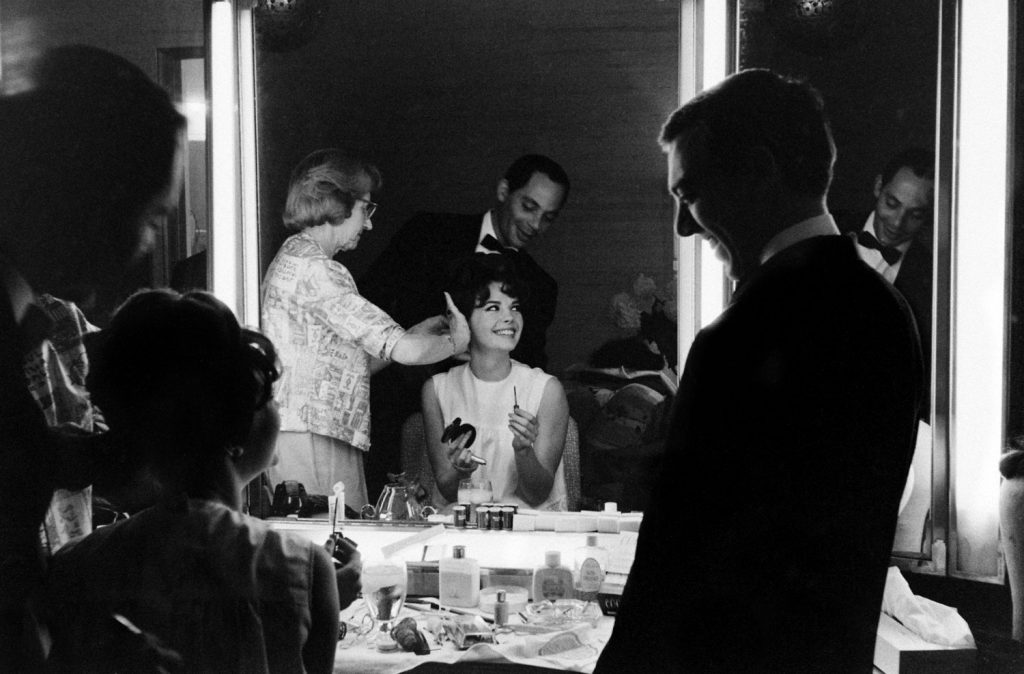 Natalie Wood gets ready for the Academy Awards in April 1962.