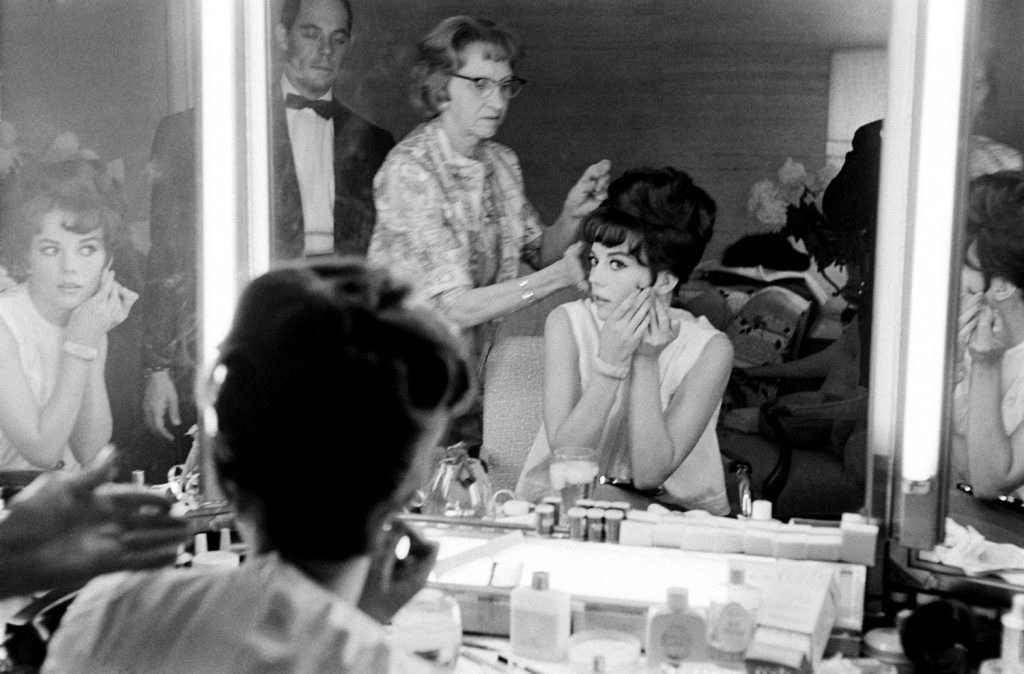 Natalie Woods gets ready for the Academy Awards.