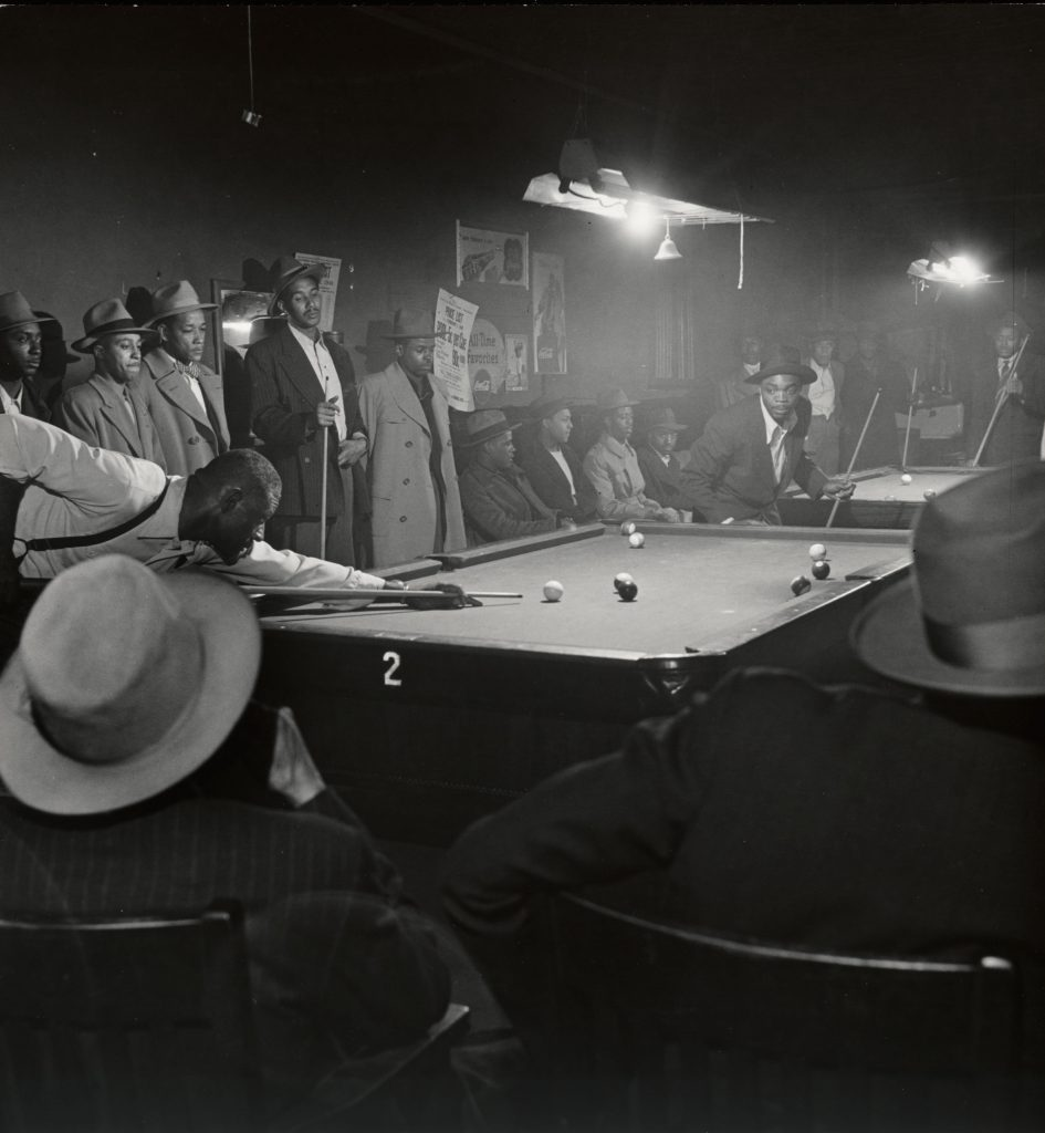 An afternoon game at Table 2, from the series The Way of Life of the Northern Negro, 1946-1948.