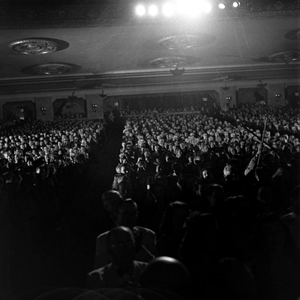 Inside the Warner Theater during the Miss America pageant in Atlantic City, September 1945.