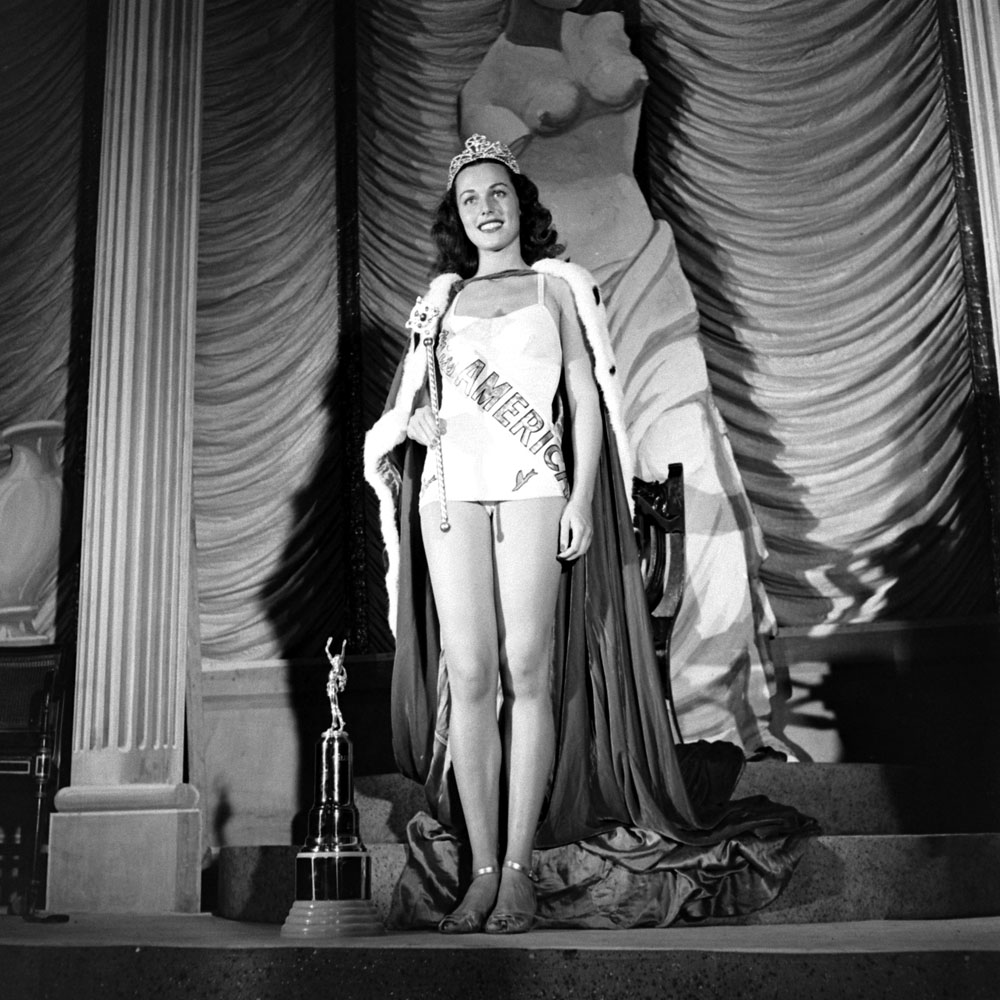 Bess Myerson, Miss America in 1945, Atlantic City, New Jersey.