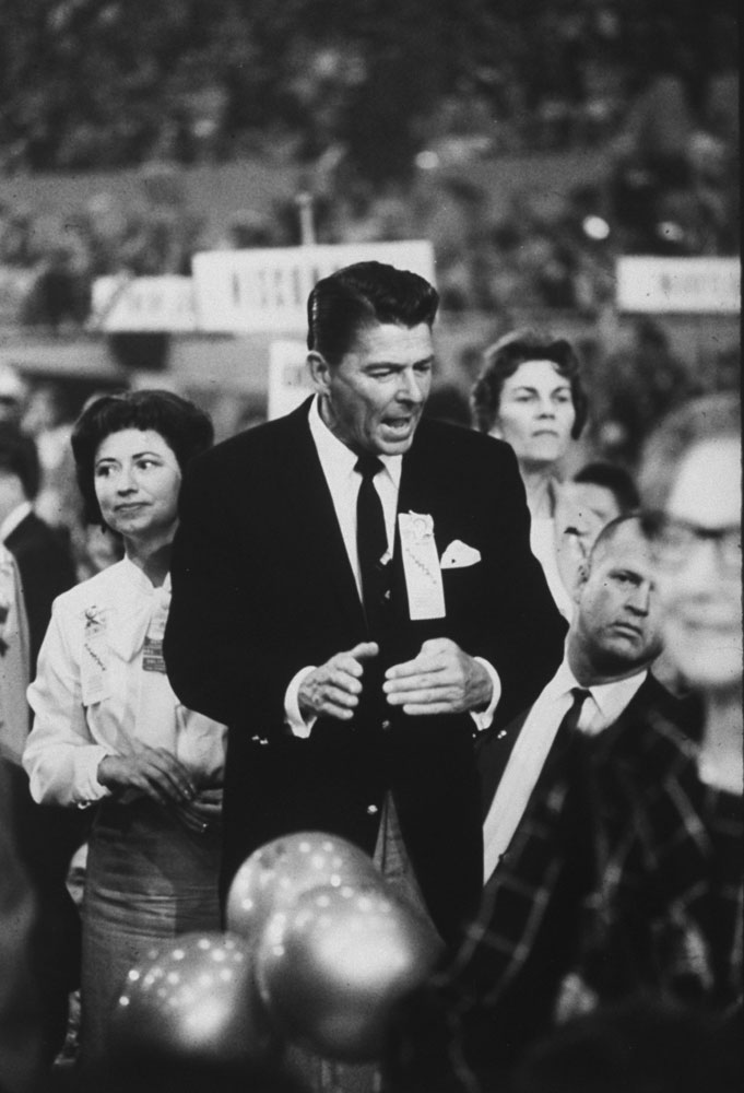 Ronald Reagan at the 1964 Republican National Convention in San Francisco.
