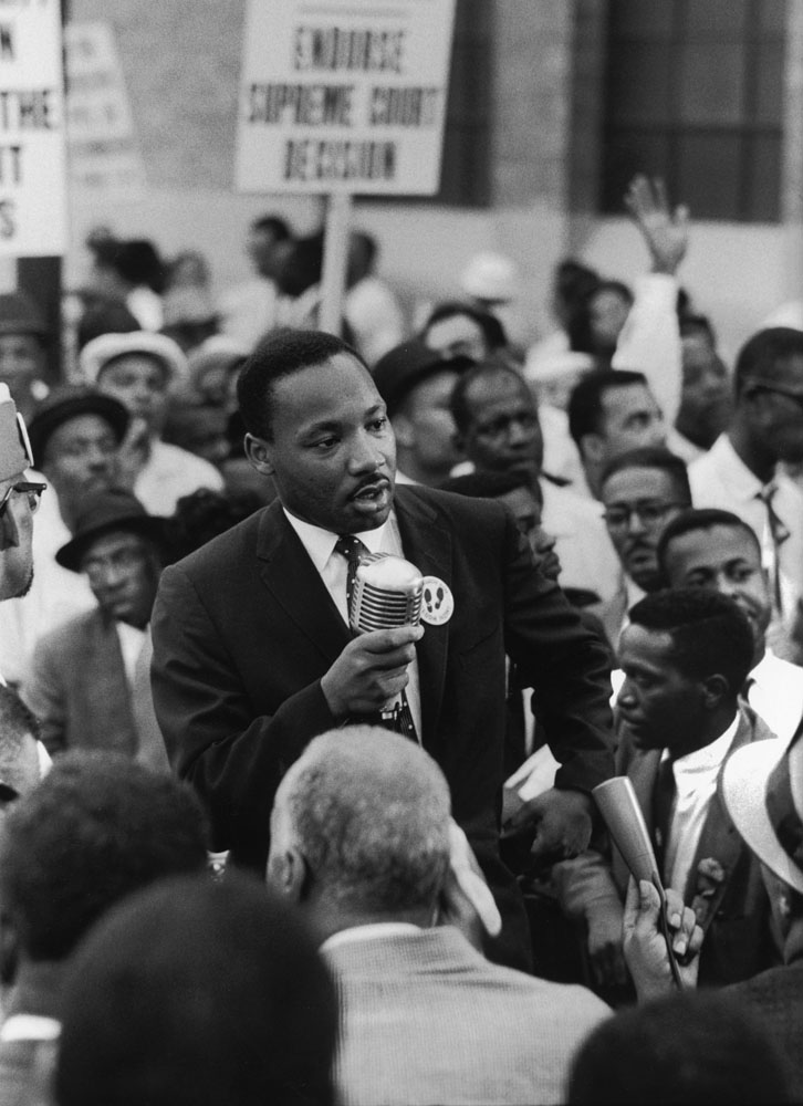 Not originally published in LIFE. During the 1960 Republican National Convention in Chicago, Martin Luther King Jr. leads a demonstration calling for a strong Civil Rights plank in the GOP campaign platform.