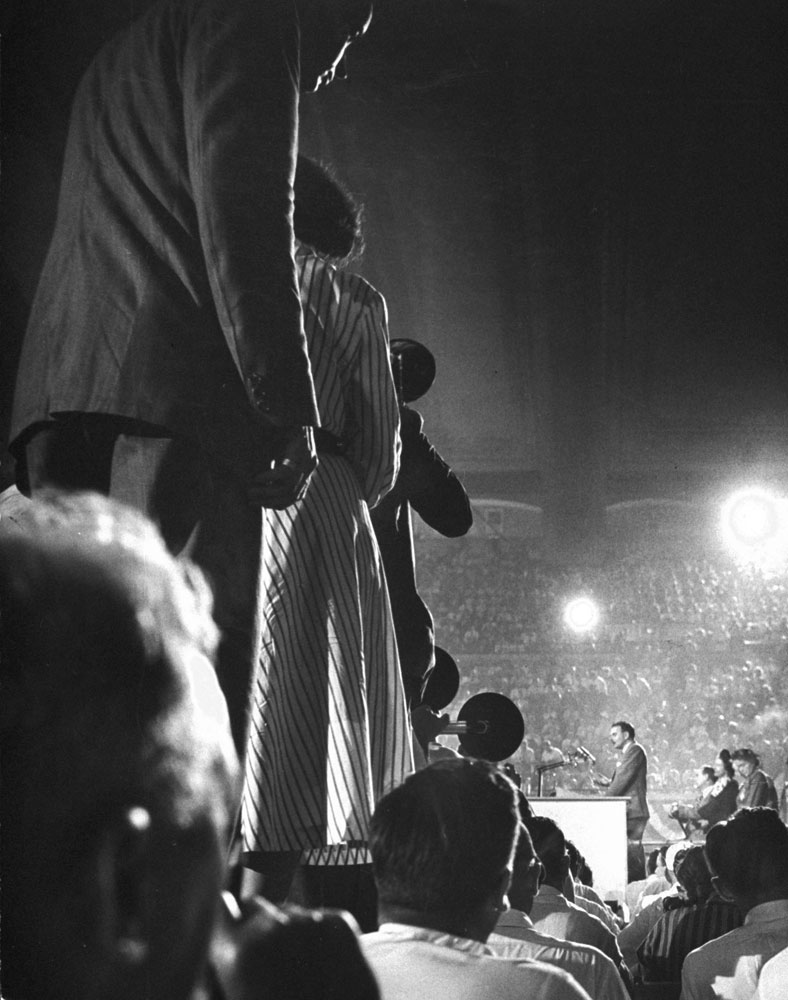 Scene at the 1948 GOP National Convention in Philadelphia.