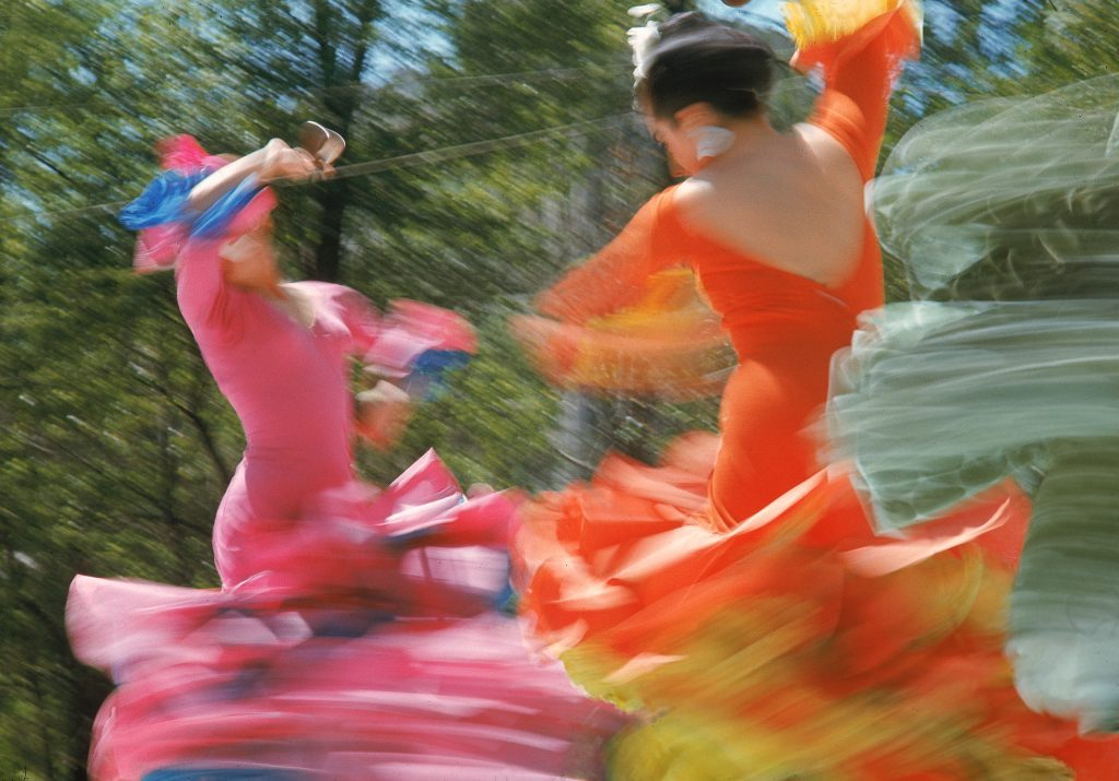 Park dancers in Mexico City.