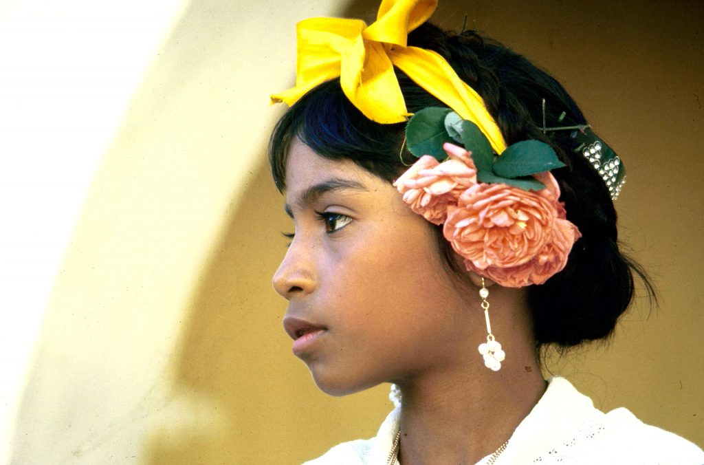 A young girl in Mexico.