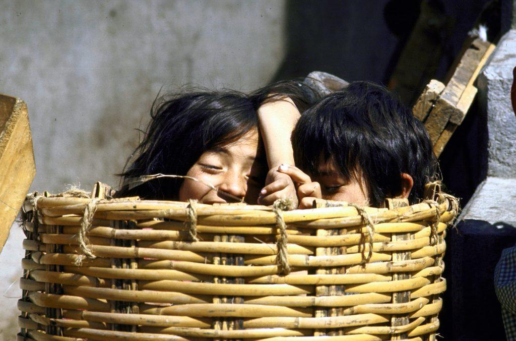 Market children, San Miguel de Allende.