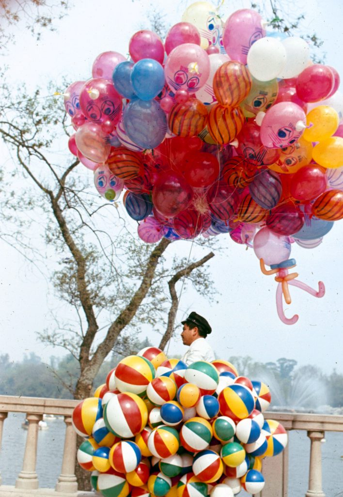 Man with balloons, Mexico.