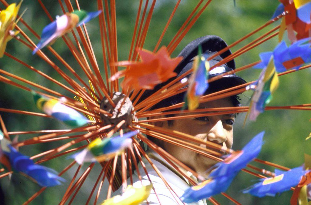 Pinwheel display, Mexico City.