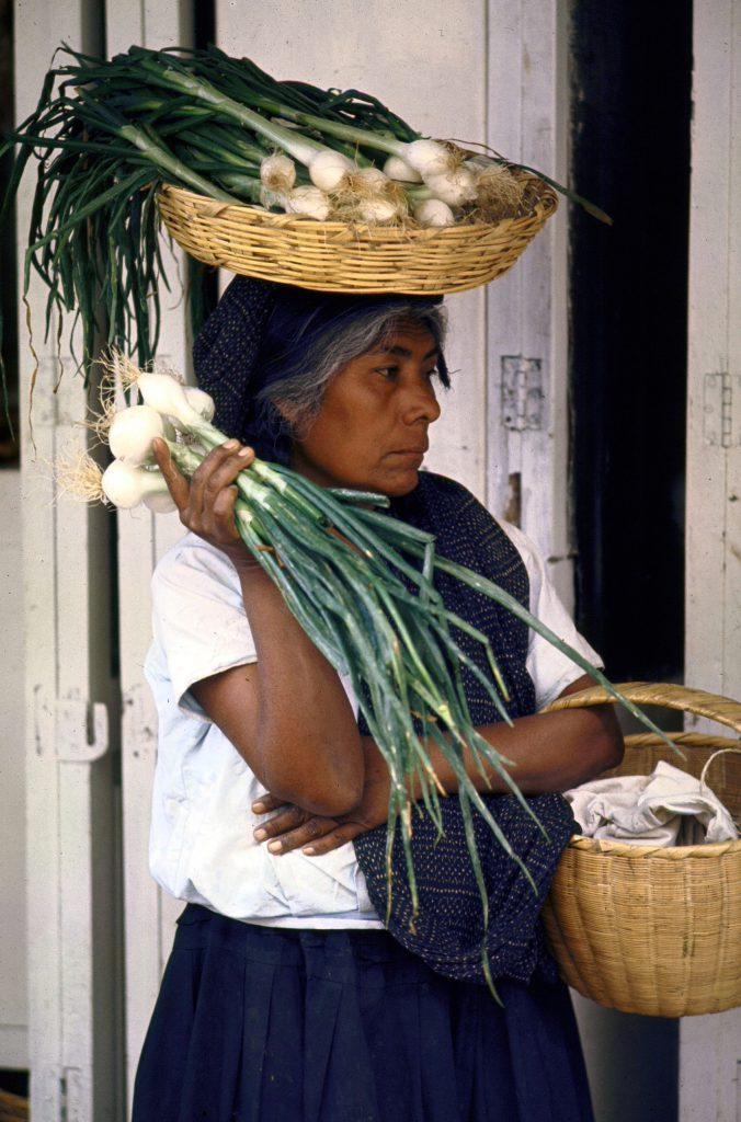 Hatful of onions, Vera Cruz.