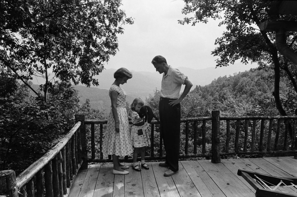 Billy Graham with his wife and daughter, 1955.